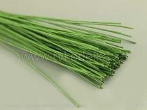 Проволока для цветов №28 (0,4мм х 30см). Зеленая.