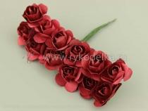 Букетик  бумажных роз. Бордовые.