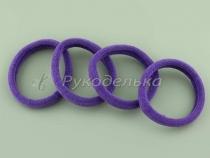 Резинка для волос бесшовная. 4,5см. Фиолетовая.