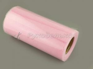 Фатин розовый. 15см. Рулон 25 ярдов.