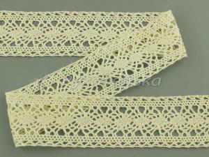 Кружево вязаное х/б.  32мм