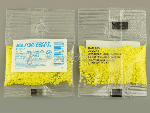 Бисер японский TOHO. 15/0. Желтый (42). Непрозрачный. 5гр.