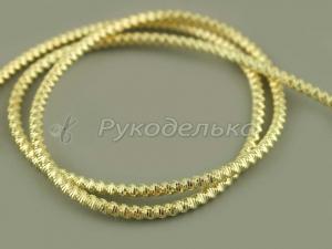 Канитель фигурная Спираль 2,5мм. Светлое золото. 5гр.