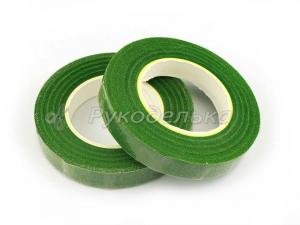 Тейп лента флористическая. Зеленая №301. Рулон
