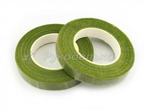 Тейп лента флористическая. Травяной зеленый №308. Рулон