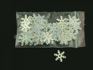 Пайетки Снежинки 12 мм. Серебро. 2гр