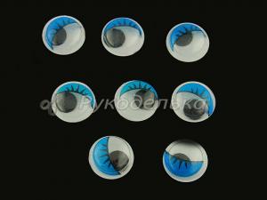 Глазки бегающие 12мм Синие