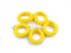 Резинка для волос 2,5см. Желтая