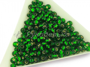 Бисер чешский Preciosa 6/0. Зеленый (57060) TSL. 10гр