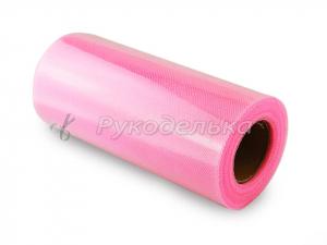 Фатин ярко-розовый. 15см. Рулон 25 ярдов.