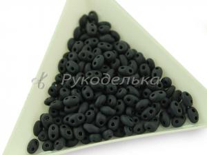 Бисер чешский Preciosa TWIN Черный матовый (23980) NO. 10гр