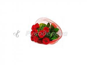 Алмазная мозаика 25х25см в тубе. Частичная выкладка. MM21223. Розы.