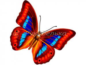 Алмазная мозаика 25х25см в тубе. Частичная выкладка. MM21224. Бабочка.