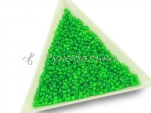 Бисер чешский Preciosa 10/0. Зеленый (17356) DA. 10гр