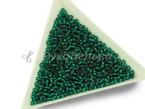 Бисер чешский Preciosa 10/0. Зеленый (57710) TSL. 10гр
