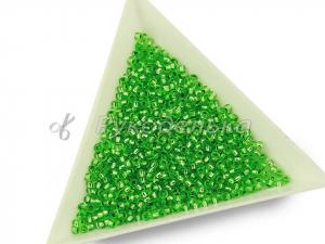 Бисер чешский Preciosa 10/0. Зеленый (18256) TSL. 10гр