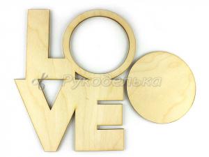Фоторамка для декора Love.