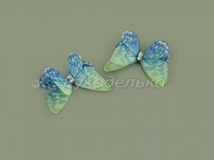 Бабочка шифоновая 3см №10.