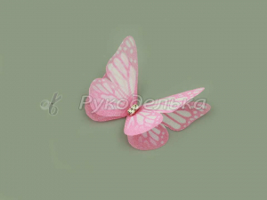 Бабочка шифоновая 4,5см №17.