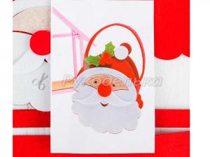 Набор для создания сумочки из фетра «Дед Мороз красный нос»