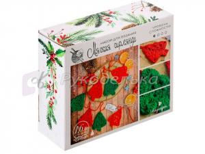 Гирлянда на ёлку «Новогодние елочки», набор для вязания.