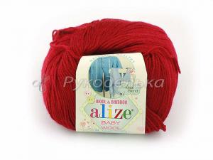 Пряжа Alize Baby Wool. Вишня 390. 50гр