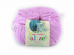 Пряжа Alize Baby Wool. Розовая сирень 672. 50гр