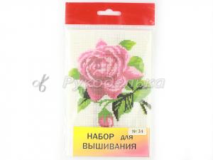 Набор для вышивания №34. 18х20см. Роза