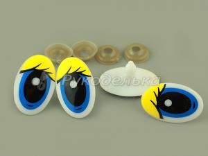Глаза для игрушек. 30х20мм.