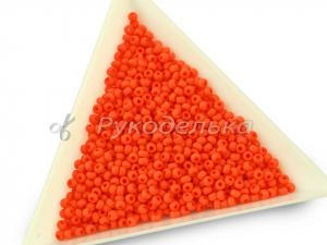 Бисер чешский Preciosa 10/0. Оранжевый матовый (93140) NO. 10гр